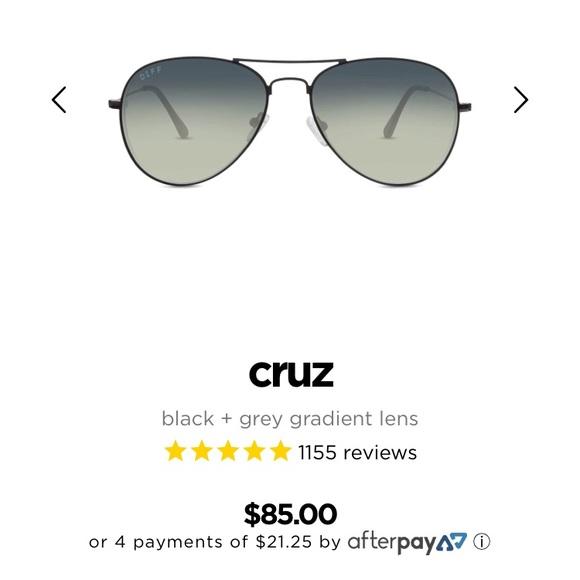 Diff Eyewear Accessories - Diff Cruz Aviator Sunglasses, Brand New!